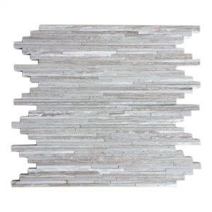 White Wood Bamboo Limestone Mosaic 7 White Wood Bamboo Limestone Mosaic Product Pic