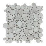 White Wood Bubble Limestone Mosaic 1 White Wood Bubble Limestone Mosaic Tile Product Pic