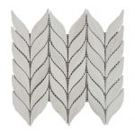 White Wood Olive Leaves Limestone Mosaic 1 White Wood Olive Leaves Limestone Mosaic Tile Product Pic