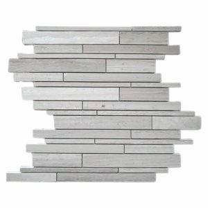 White Wood Strip Bar Limestone Mosaic 13 White Wood Strip Bar Limestone Mosaic Tile Product Pic
