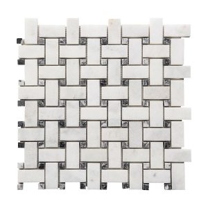 Bianco Ibiza Basketweave Marble Mosaic 6 bianco ibiza basketweave marble mosaic tile Product Pic