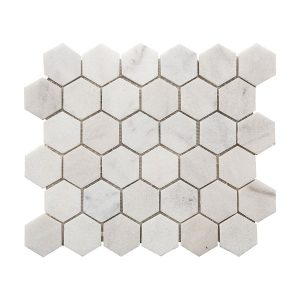 Bianco Ibiza Hexagon Marble Mosaic 7 bianco ibiza hexagon marble mosaic tile Product Pic
