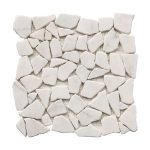 Bianco Ibiza Pebble Marble Mosaic 1 bianco ibiza pebble marble mosaic tile Product Pic