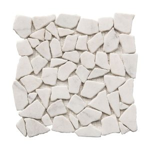 Bianco Ibiza Pebble Marble Mosaic 10 bianco ibiza pebble marble mosaic tile Product Pic