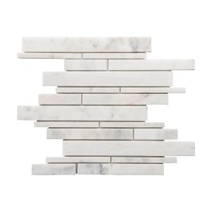 Bianco Ibiza Strip Bar Marble Mosaic 4 bianco ibiza strip bar marble mosaic tile Product pic