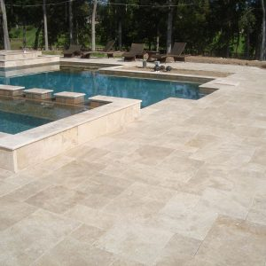 Ivory 32 ivory french Pattern Paver Project Jobside Pic