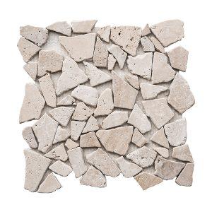 Ivory Pebble Travertine Mosaic 19 ivory pebble travertine mosaic tile product pic