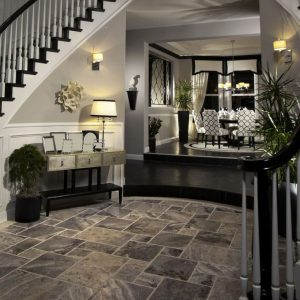 Silver 29 silver french pattern brush tile indoor floor luxury jobside Pic