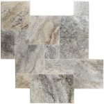 "Silver 6""x12"" Travertine Paver 2 silver travertine french pattern set Product Pic"