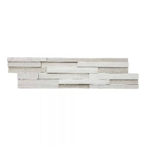 White Wood 3D Honed Ledger Panel 3 white wood 3d honed ledger panel product pic