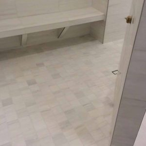 Bianco Victoria 3 Bianco Victoria 12x24 Marble Tile Bathroom Floor Wall Project Pic