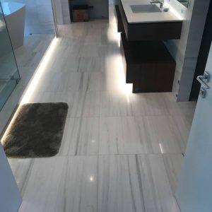 Bianco Victoria 8 Bianco Victoria Polished 12x24 Bathroom Floor Design Pic