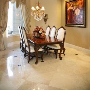 Botticino 9 Botticino Marble Tile Floor Inside Livingroom Area Project jobside Pic