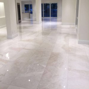 Botticino 10 Botticino Select Marble Tile Floor Jobside Pic