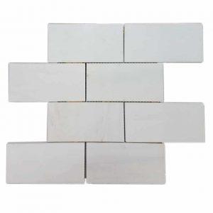 """Dolomite 3""""x6"""" Subway Marble Mosaic 4 Dolomite 3x6 Subway Marble Mosaic Product Pic"""