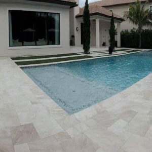 Fantastic Royal 17 Fantastic Royal French pattern Marble Paver Pool Area Jobside Pic
