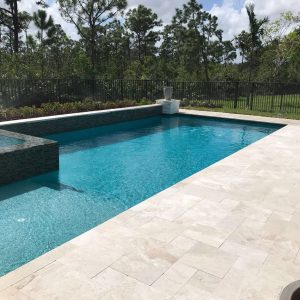 Fantastic Royal 19 Fantastic Royal French pattern Marble Paver Poolside Project Pic