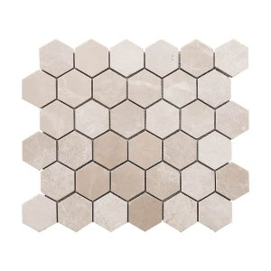 Botticino Hexagon Marble Mosaic 10 bottichino hexagon marble mosaic tile Product Pic