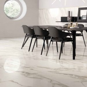 Calacatta 4 calacata polished marble dining room jobside Pic