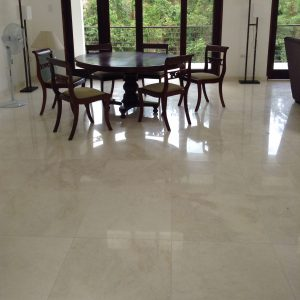 Golden White 3 Golden White 24x24 Marble Tile Floor Livingroom Jobside Pic