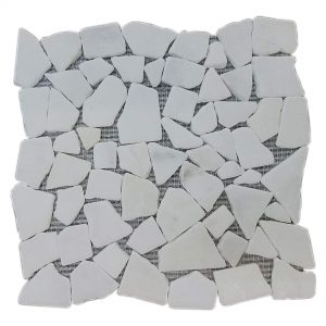 Ice White Pebble Marble Mosaic 11 Ice White Pebble Mosaic Marble Product Pic