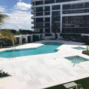 Ice White 28 Ice White Sand Blasted Floor Poolside Project Jobside Pic