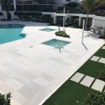 Ice-White-Sand-Blasted-French-Pattern-Paver-Outdoor-Floor-Jobside-Pic-17