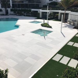 Ice White 26 Ice White Sand Blasted French Pattern Paver Outdoor Floor Jobside Pic 17