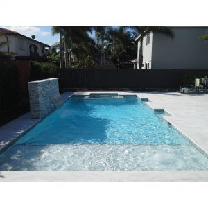 Ice White 35 Ice White Sand Blasted French Pattern Paver Outdoor Floor Jobside Pic 2