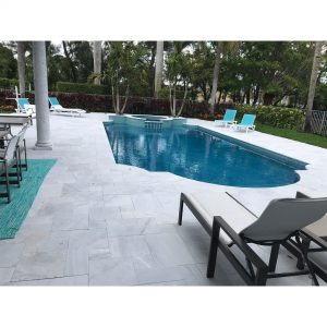 Ice White 33 Ice White Sand Blasted French Pattern Paver Outdoor Floor Jobside Pic 6