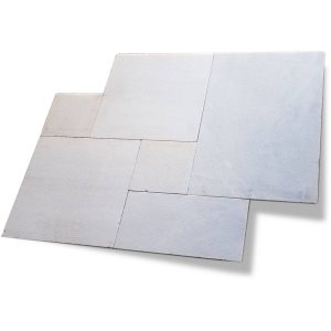 Ice White French Pattern Marble Paver 16 Ice White Sand Blasted Marble Paver French Pattern Product Pic