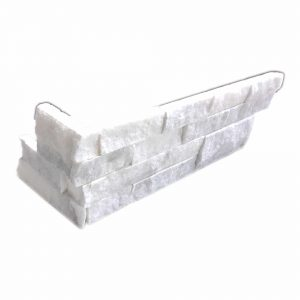Ice White Splitface Ledger Corner 12 Ice White Split Face Ledger Panel Corner Product Pic