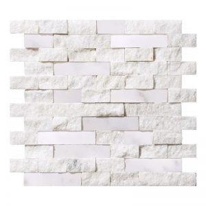 """Ice White 1""""xRandom"""" Honed & Splitface Ledger 8 Ice White Splitface ledger panel 1xrandom product pic"""