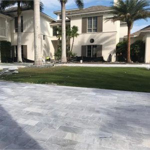 Ice White 37 Ice White Tumbled 6x12 Paver Outdoor Driveway Pic 10