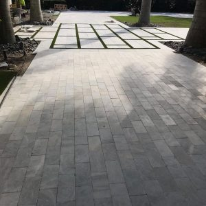 Ice White 36 Ice White Tumbled 6x12 Paver Outdoor Driveway Pic 15