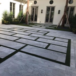 Ice White 24 Ice White Tumbled 6x12 Paver Outdoor Driveway Pic 9