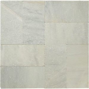 "Ice White 6""x12"" Marble Paver 17 Ice White Tumbled 6x12 paver product pic"