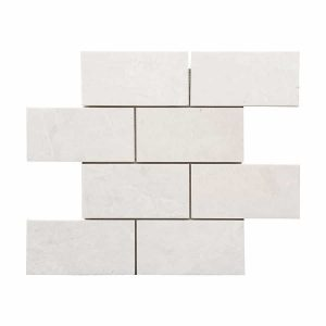 "French Vanilla 3""x6"" Subway Marble Mosaic 16 french vanilla 3x6 marble mosaic tile product pic"