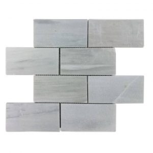 "Ice White 3""x6"" Subway Marble Mosaic 8 ice white 3x6 subway marble mosaic tile product pic"