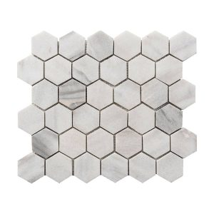 Ice White Hexagon Marble Mosaic 10 ice white hexagon marble mosaic tile product pic
