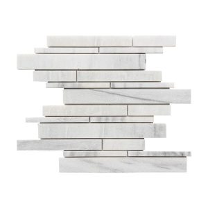 Ice White Strip Bar Marble Mosaic 12 ice white strip bar marble mosaic tile product pic