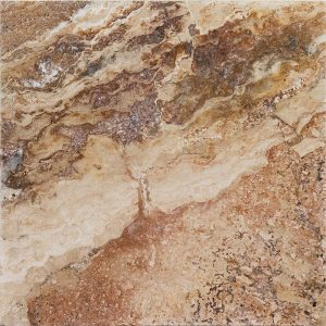 "Autumn Blend 16""x16"" Travertine Paver 4 16x16 Autumn Blend Premium Select Tumbled Travertine Paver"