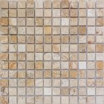 "Leonardo 1""x1"" Travertine Mosaic 1 1x1 Leonardo Tumbled Travertine Mosaic"