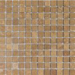 1×1-Walnut-Noce-Tumbled-Travertine-Mosaic