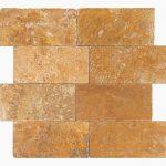 "Gold 1""xRandom"" Travertine Tile 1 1xRandom Gold Premium Select Tumbled Travertine Tile"