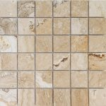 "Leonardo 2""x2"" Travertine Mosaic 2 2x2 Leonardo Polished Travertine Mosaic"