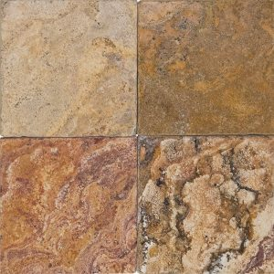 "Autumn Blend 4""x4"" Travertine Tile 7 4x4 Autumn Blend Premium Select Tumbled Travertine Tile"