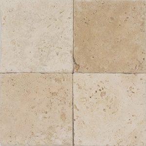 "Ivory 4""x4"" Travertine Tile 3 4x4 Ivory Premium Select Tumbled Travertine Tile"