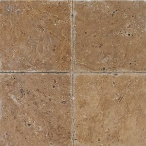 "Noce 4""x4"" Travertine Tile 5 4x4 Noce Premium Select Tumbled Travertine Tile"