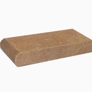 "Noche 6""x12"" Bullnose Pool Coping 18 4x9 Noce Tumbled Travertine Coping"